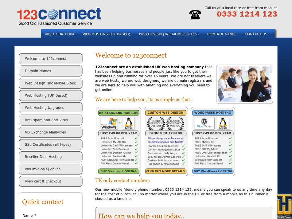123connect.co.uk Screenshot