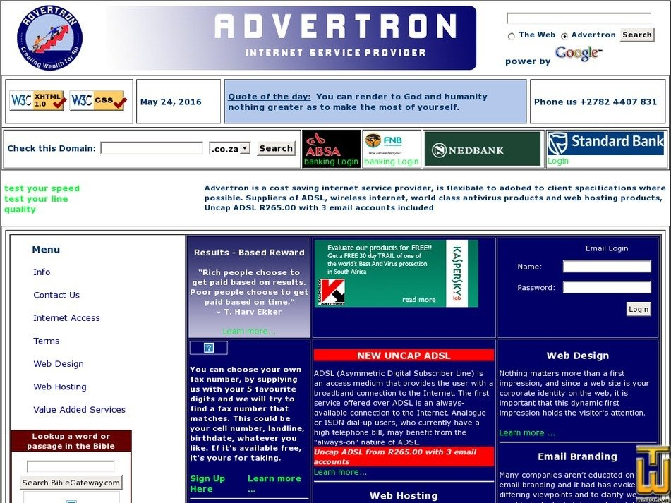 advertron.co.za Screenshot