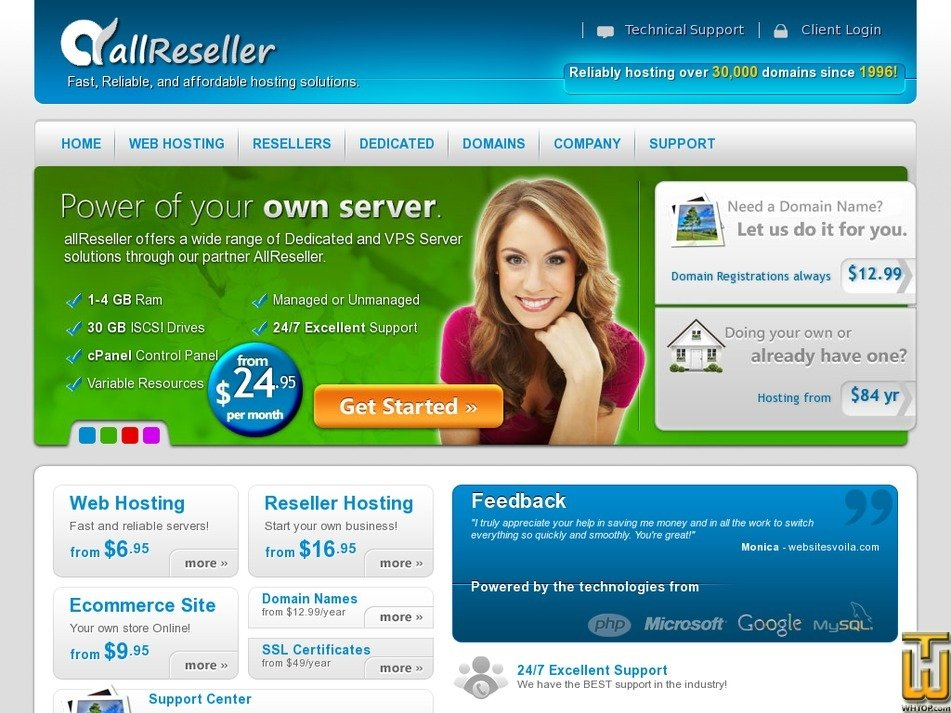 allreseller.com Screenshot