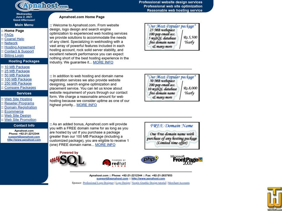 apnahost.com Screenshot