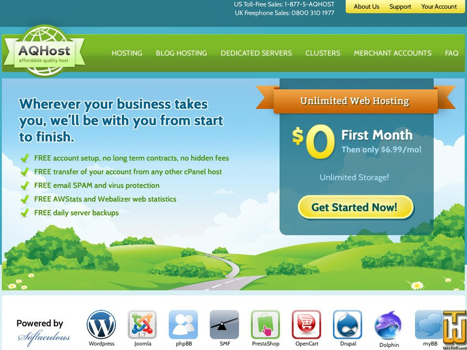 aqhost.com Screenshot