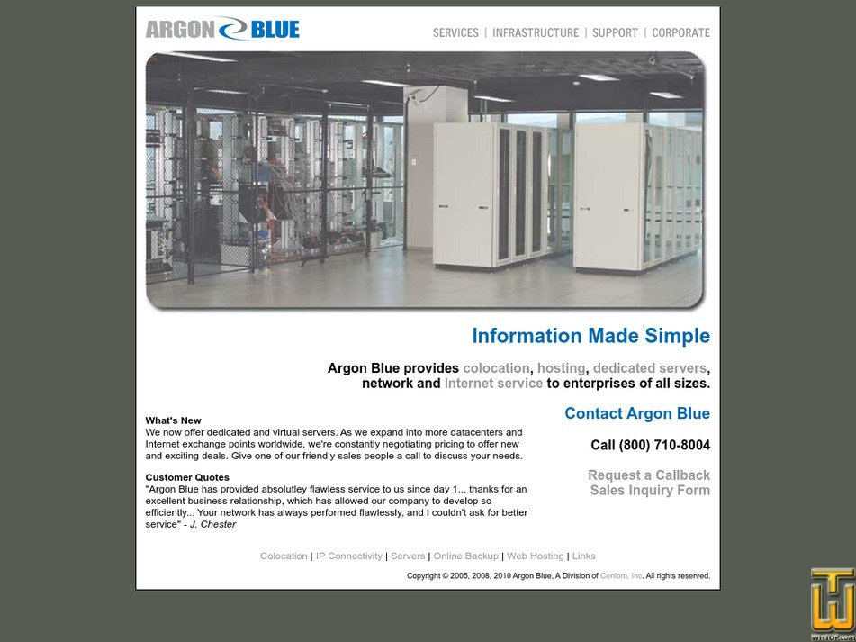 argonblue.com Screenshot