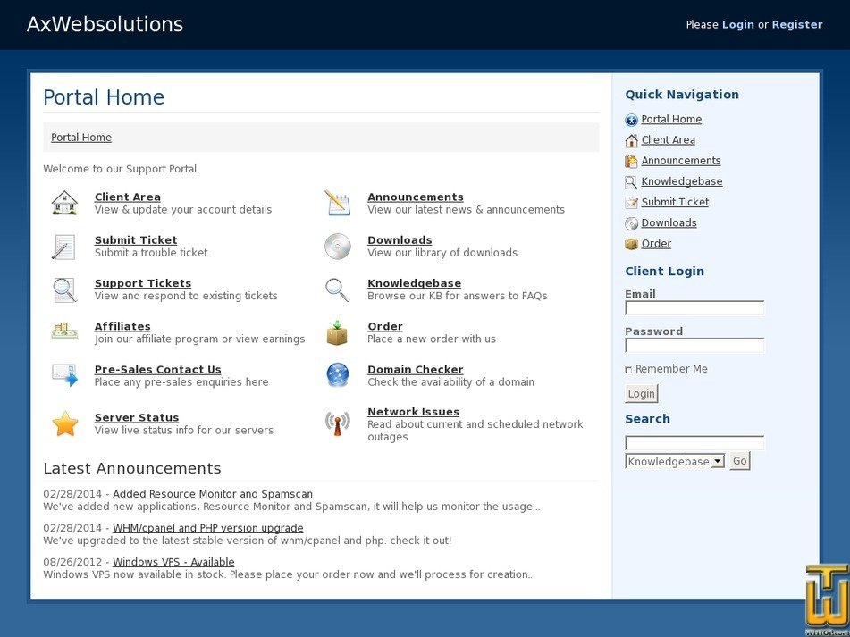 axwebsolutions.com Screenshot