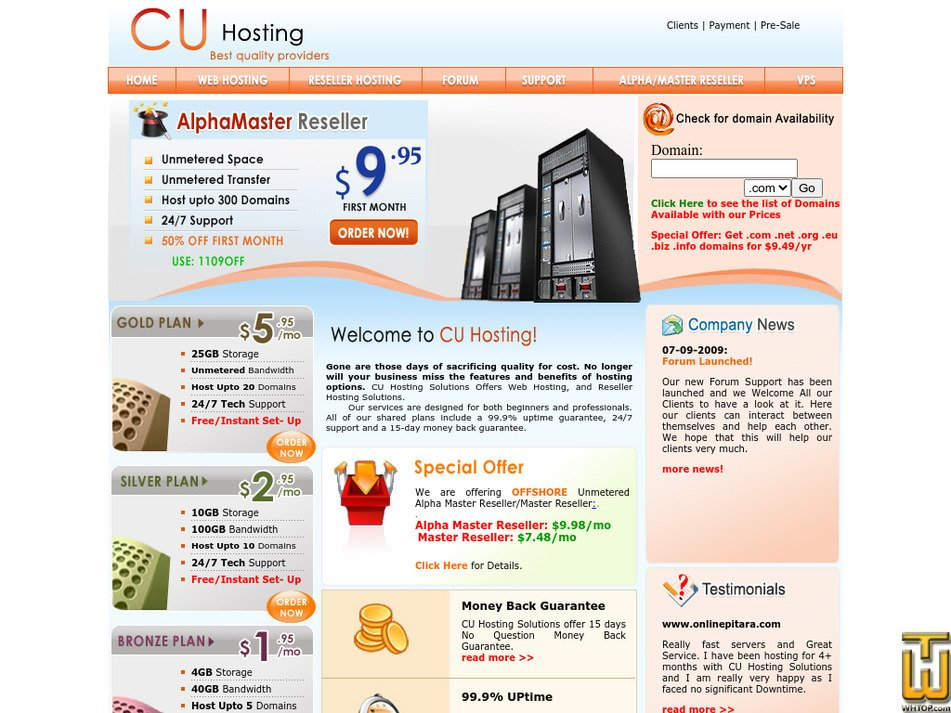 cheapestunlimitedhosting.com Screenshot