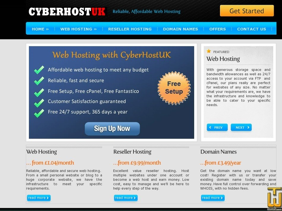 cyberhostuk.net Screenshot
