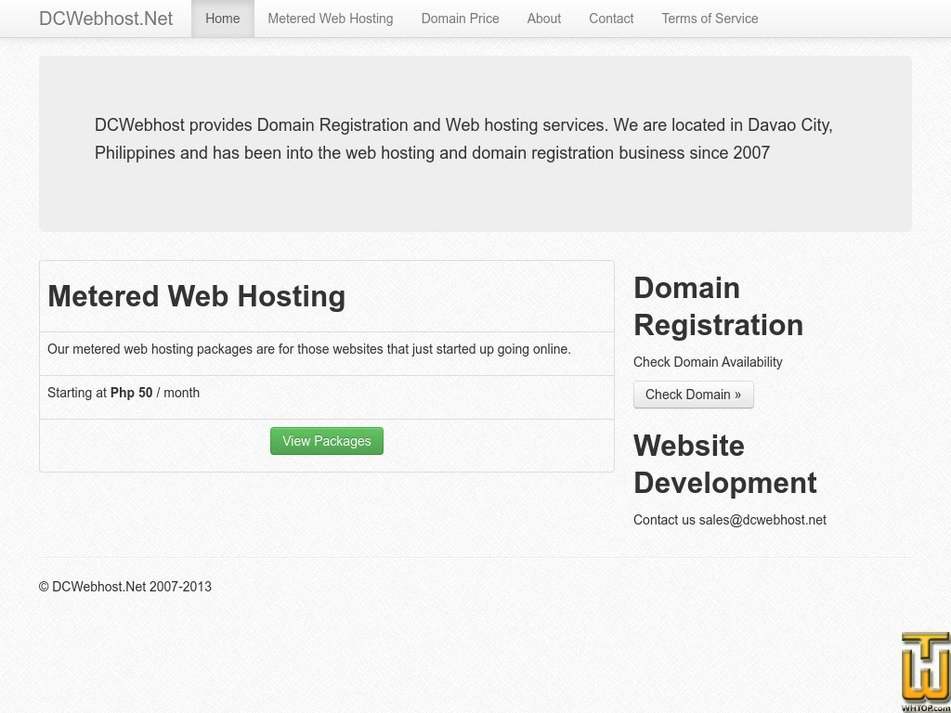 dcwebhost.net Screenshot