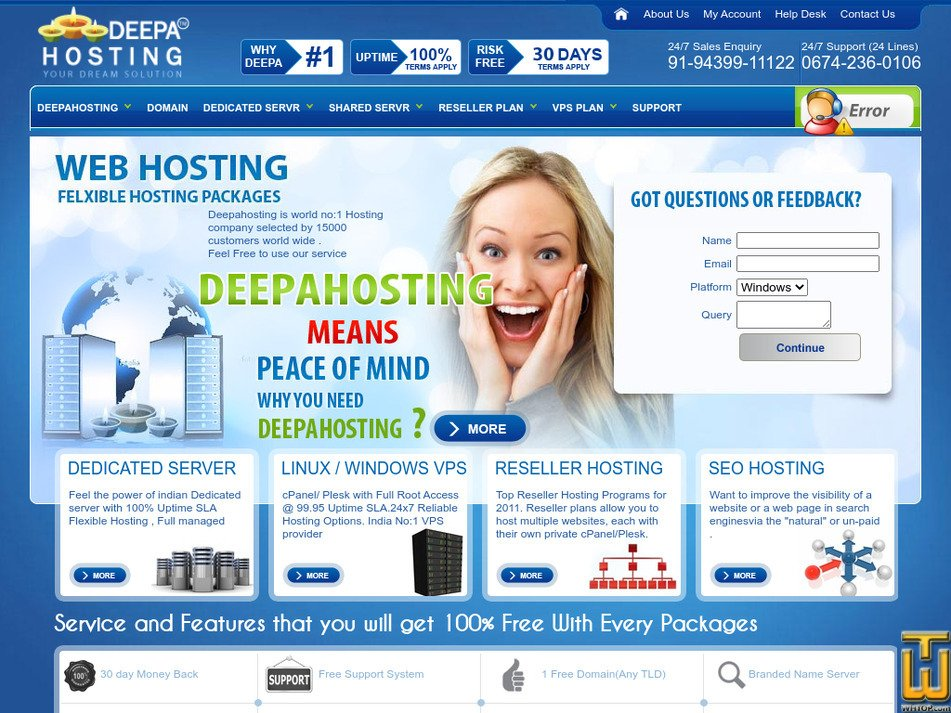 deepahosting.com Screenshot