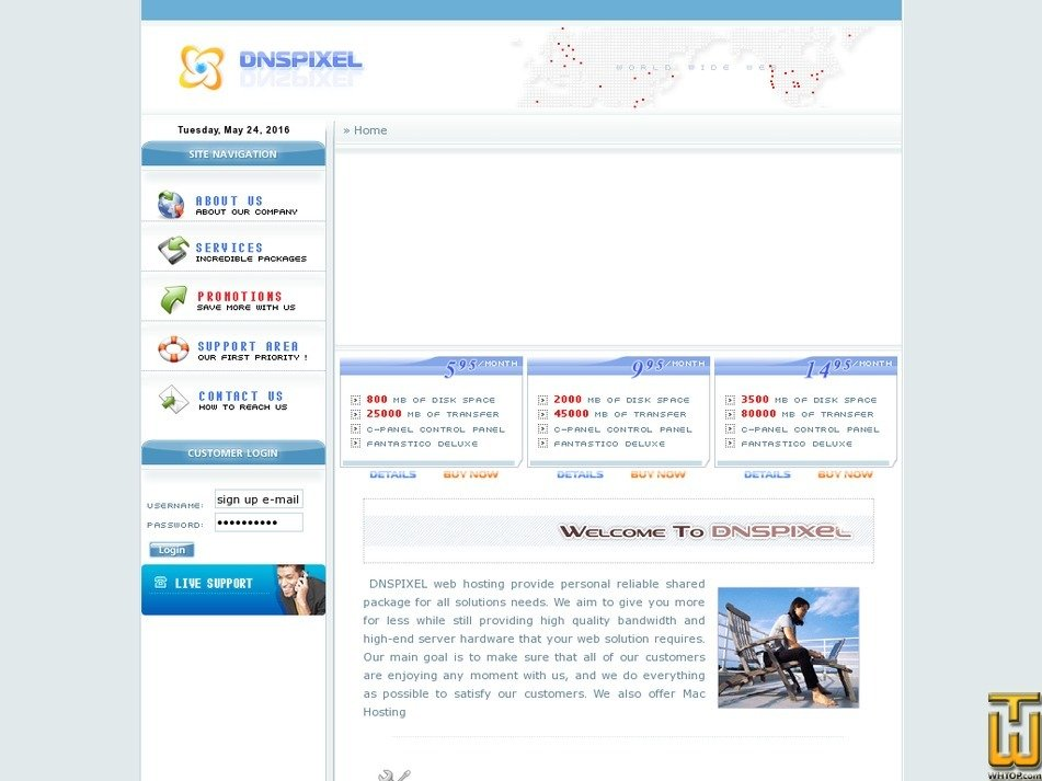 dnspixel.com Screenshot