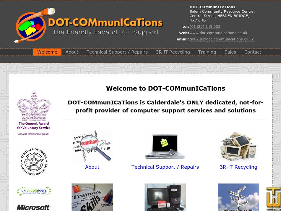 dot-communications.co.uk Screenshot