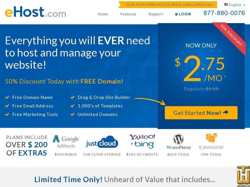 ehost.com Screenshot