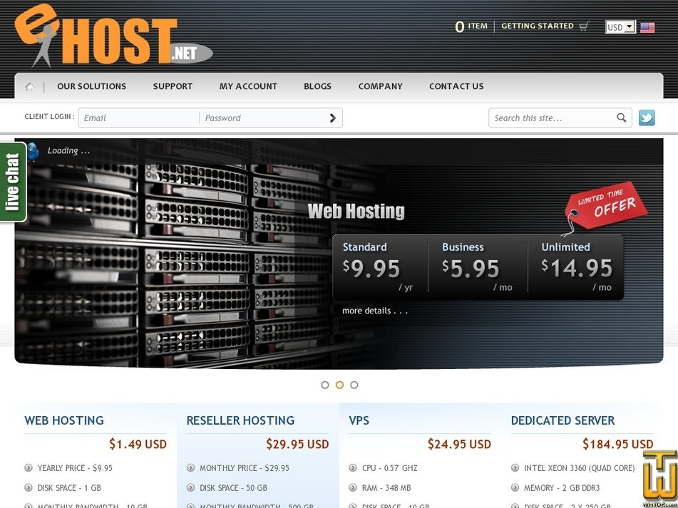 ehost.net Screenshot