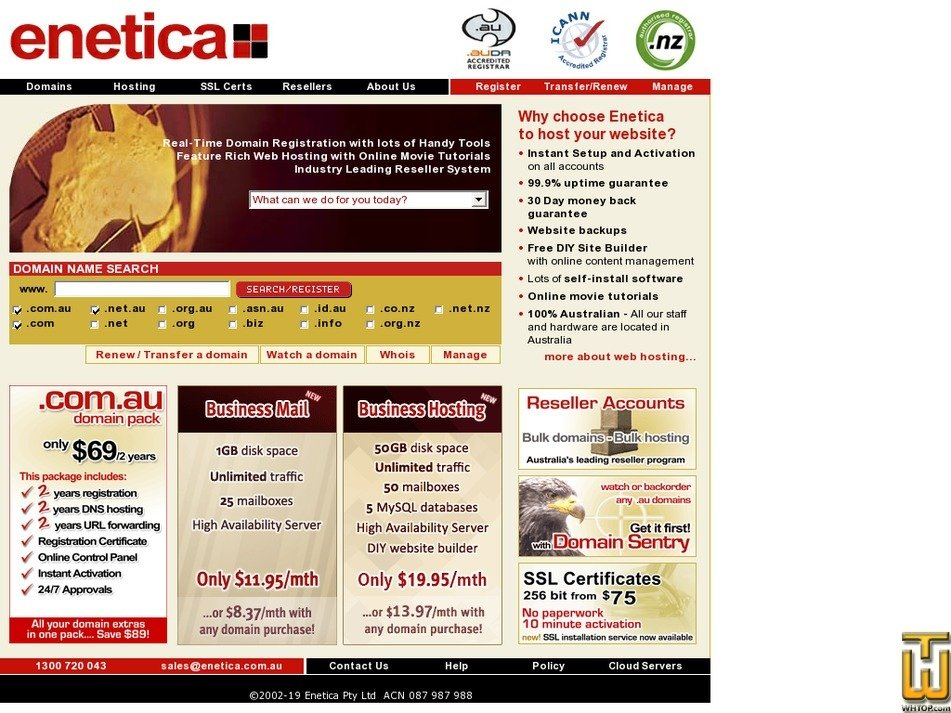 enetica.com.au Screenshot