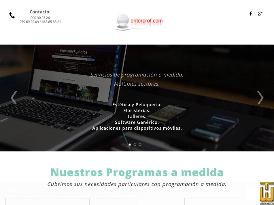 enterprof.com Screenshot