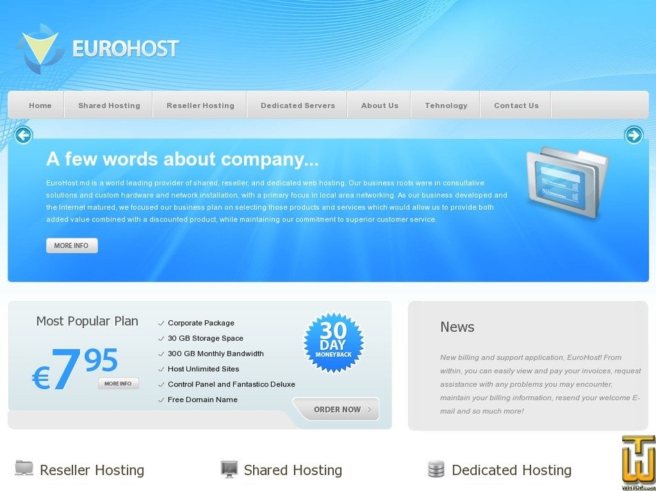eurohost.md Screenshot