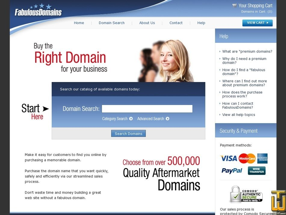 fabulousdomains.com Screenshot