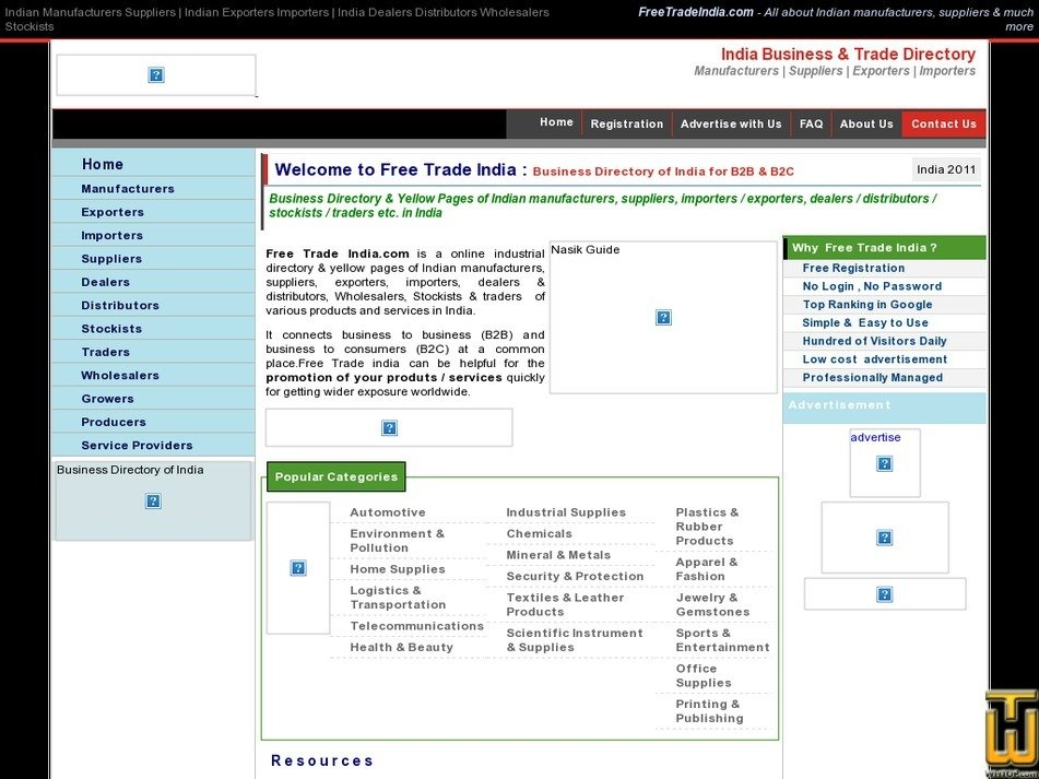 freetradeindia.com Screenshot