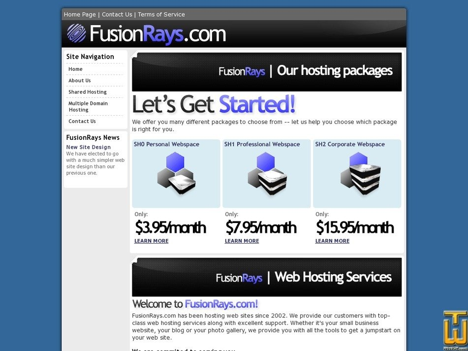 fusionrays.com Screenshot