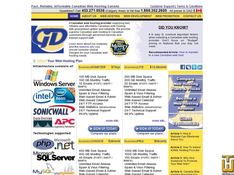 globaldesigns.ca Screenshot