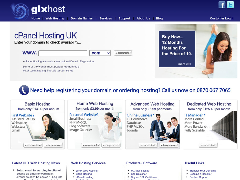 glxwebhosting.co.uk Screenshot