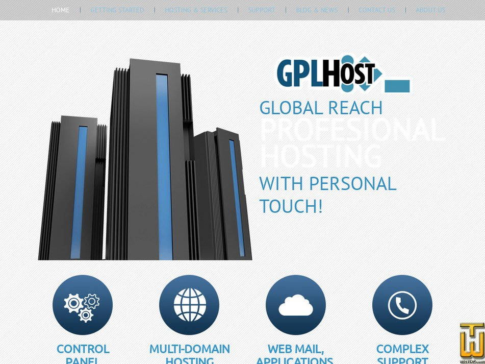 gplhost.com Screenshot