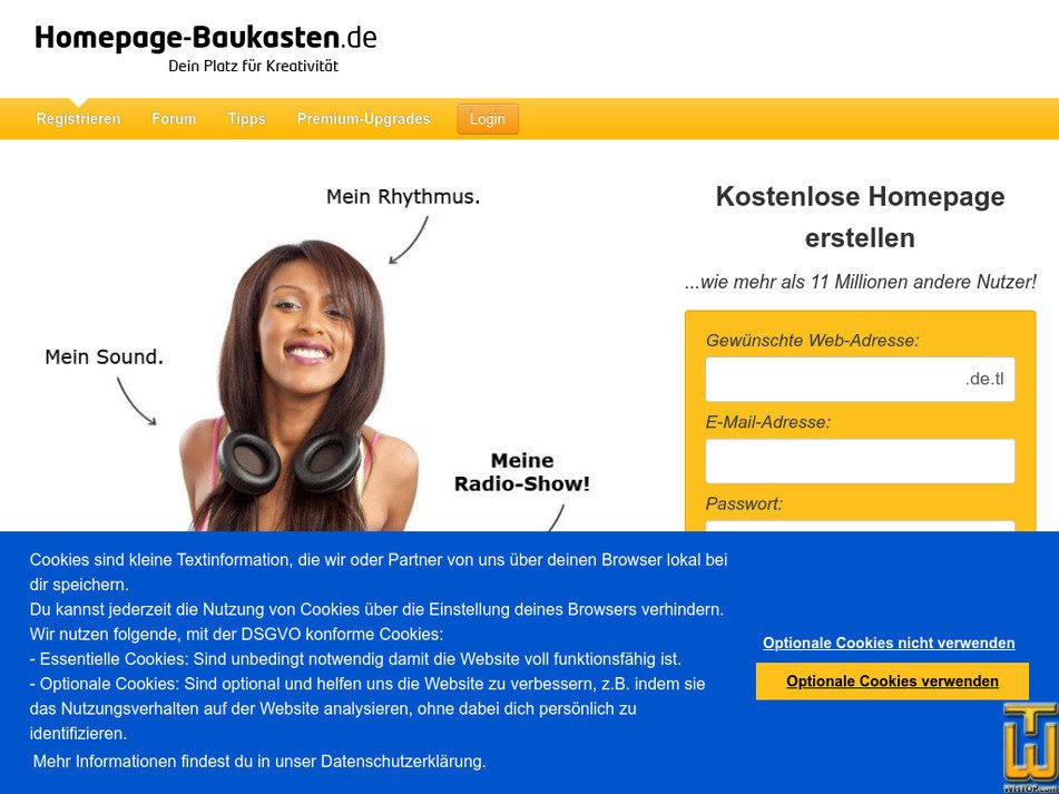 homepage-baukasten.de Screenshot