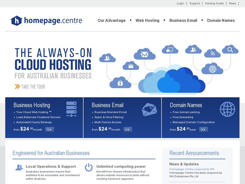 homepagecentre.com Screenshot