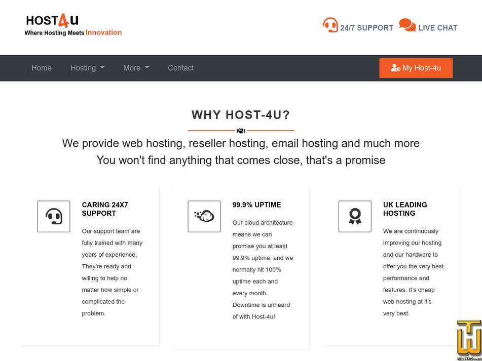 host-4u.co.uk Screenshot