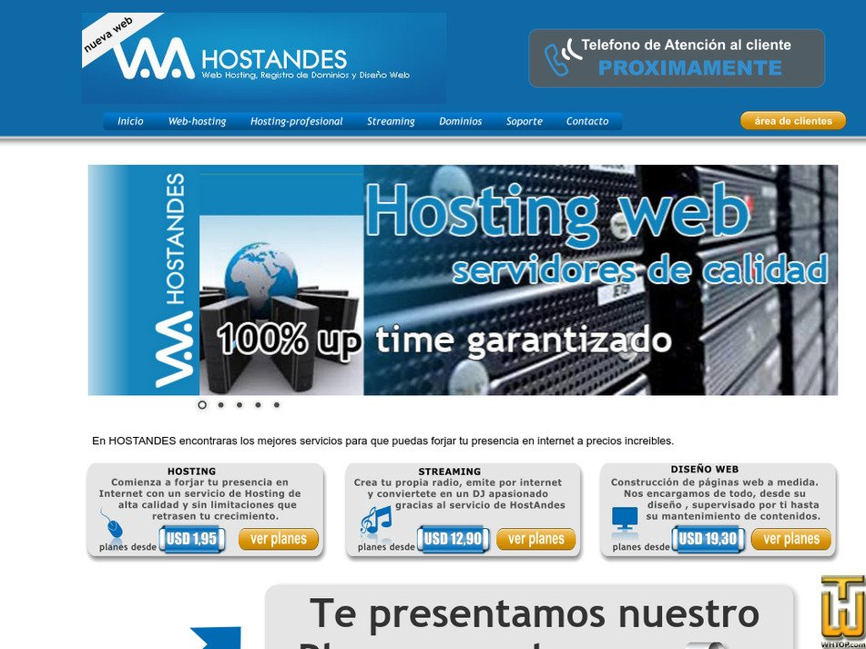 hostandes.com Screenshot