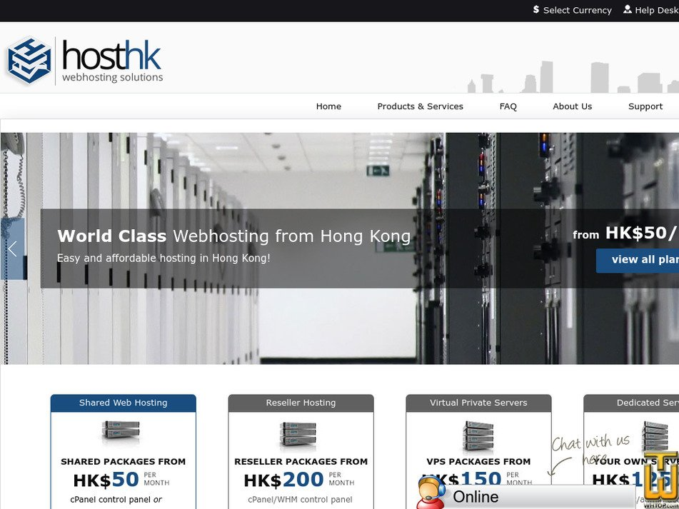 hosthongkong.net Screenshot