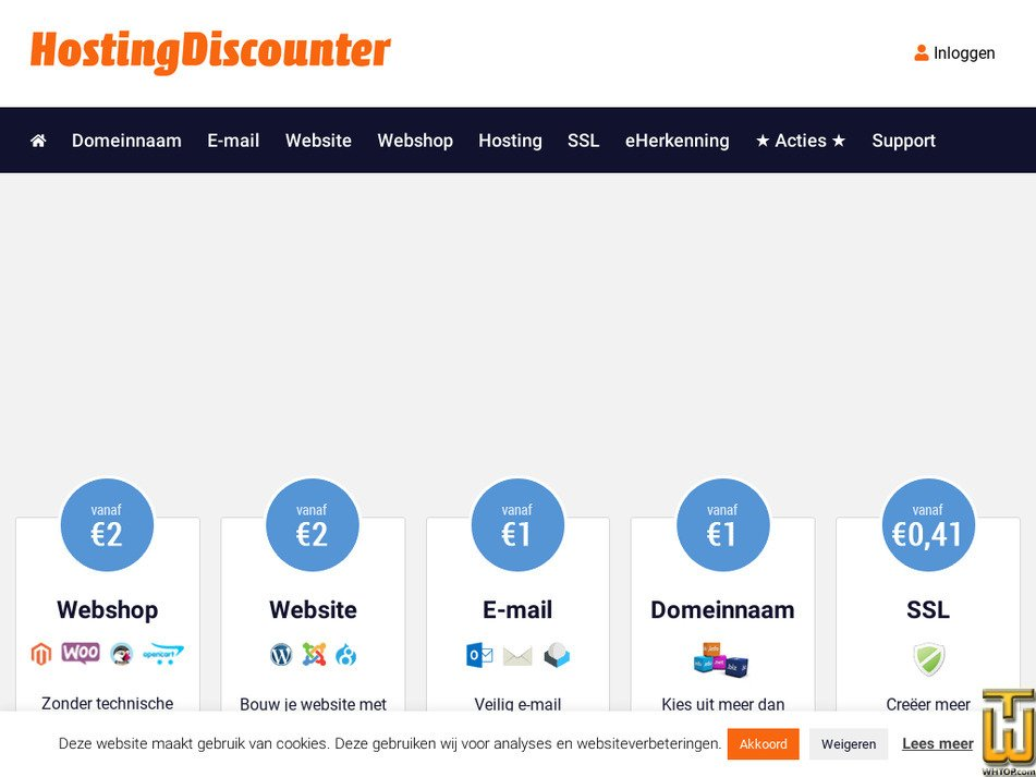hostingdiscounter.nl Screenshot