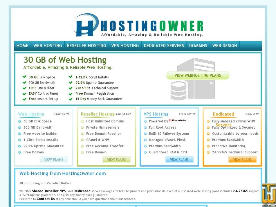 hostingowner.com Screenshot
