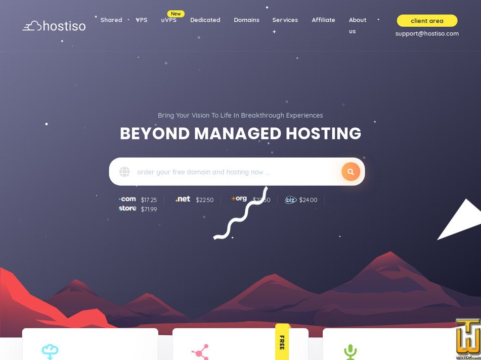 hostiso.com Screenshot