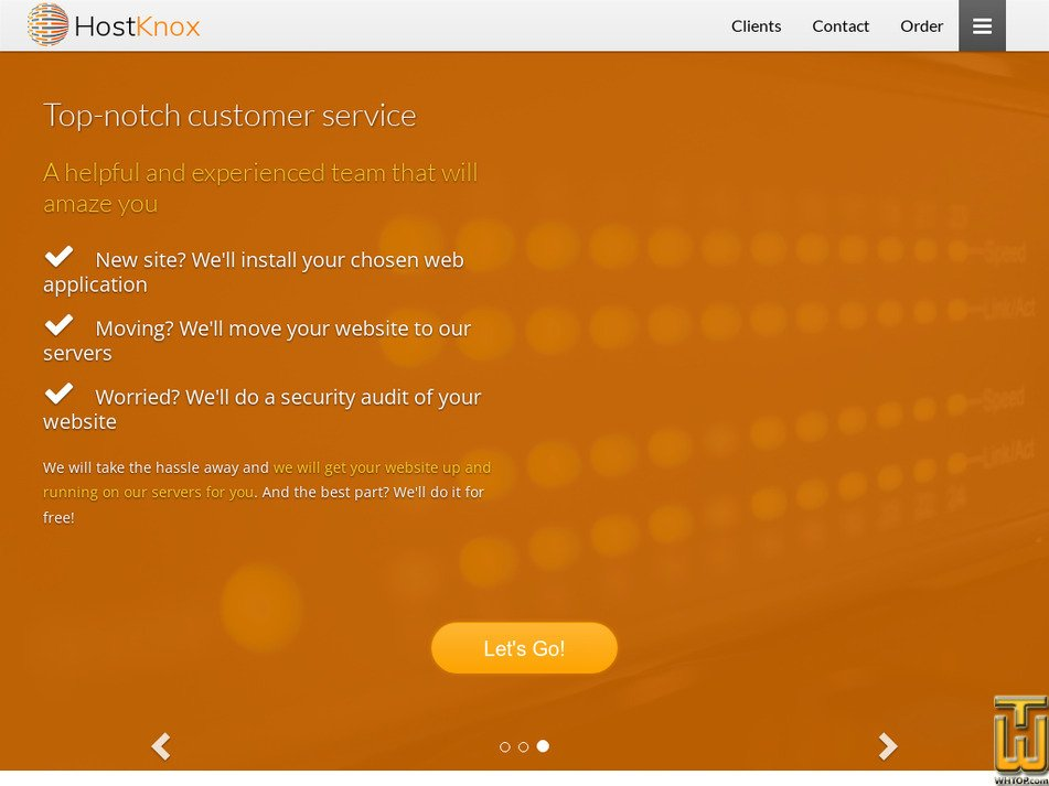 hostknox.com Screenshot