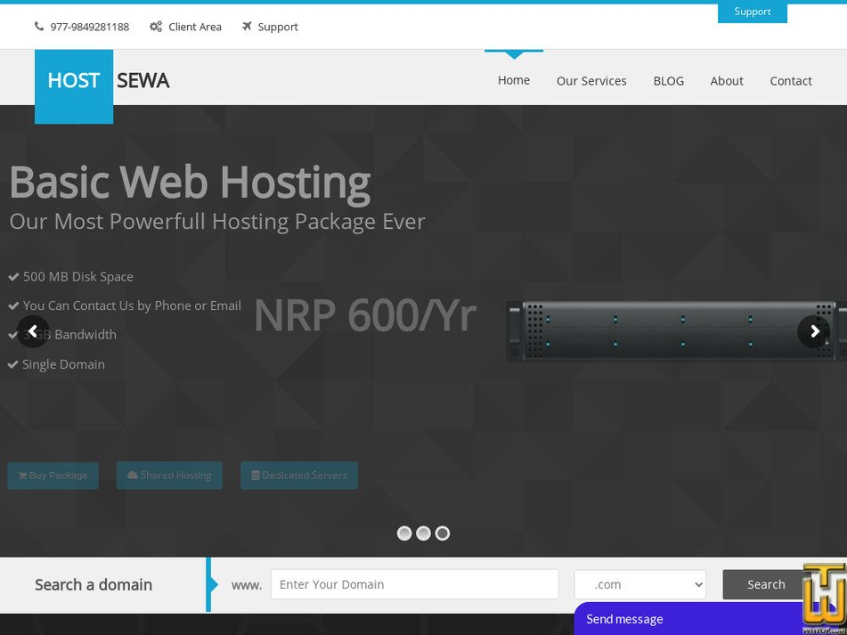 hostsewa.com Screenshot