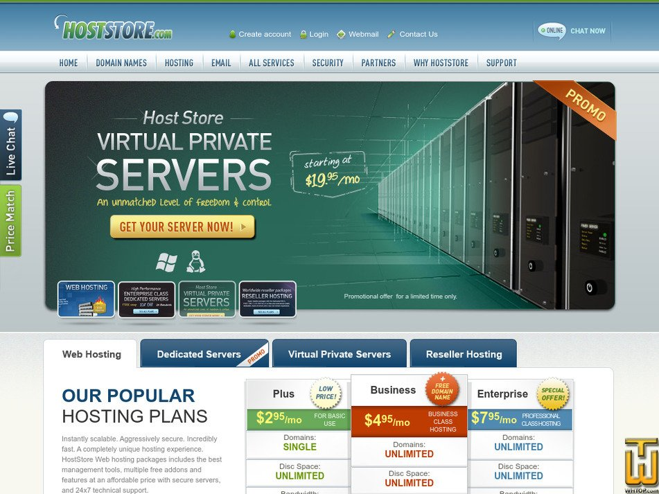hoststore.com Screenshot