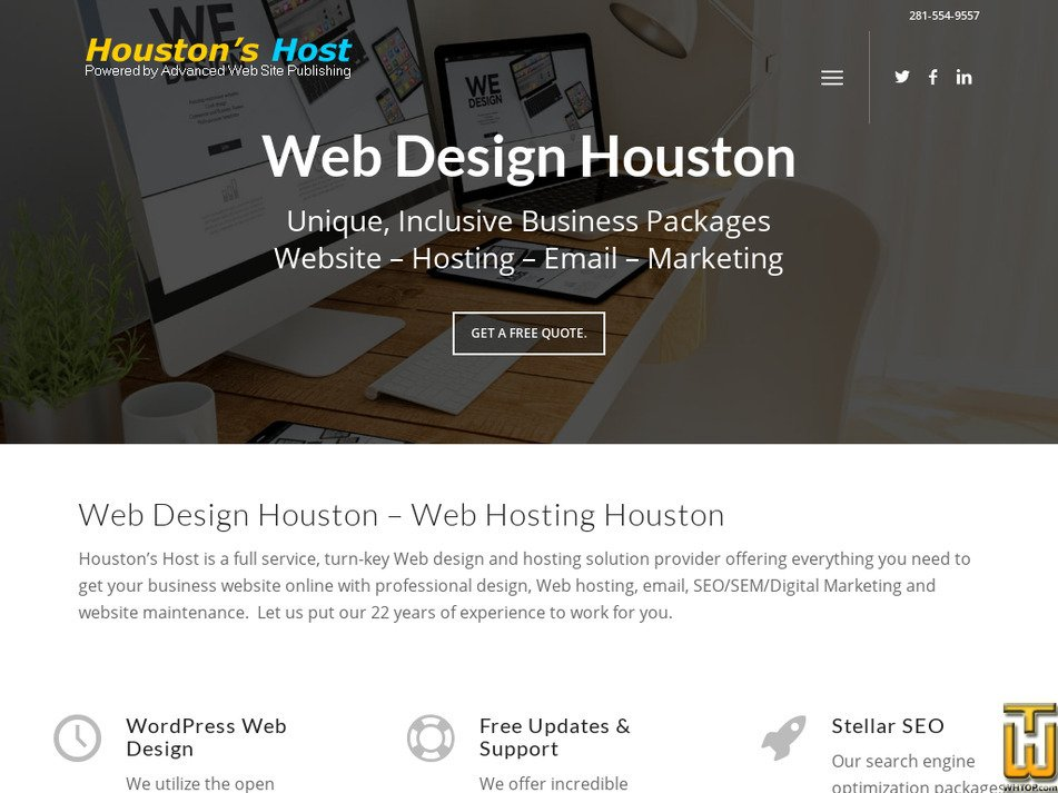 houstonshost.com Screenshot