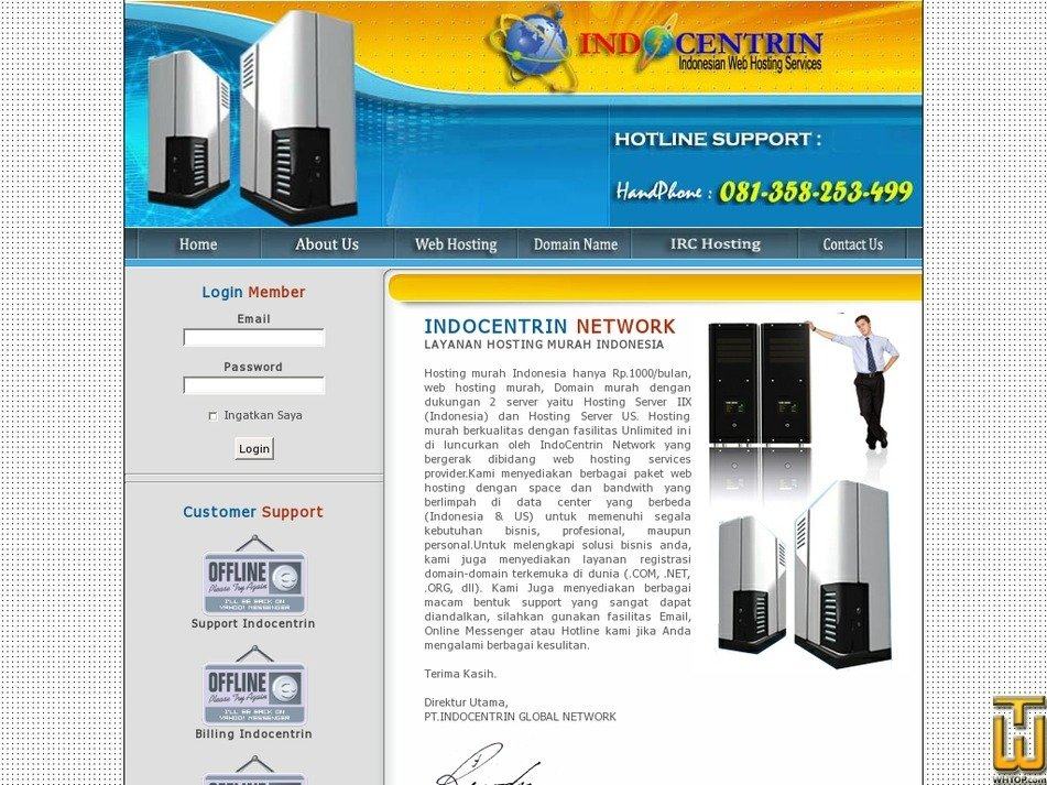 indocentrin.com Screenshot