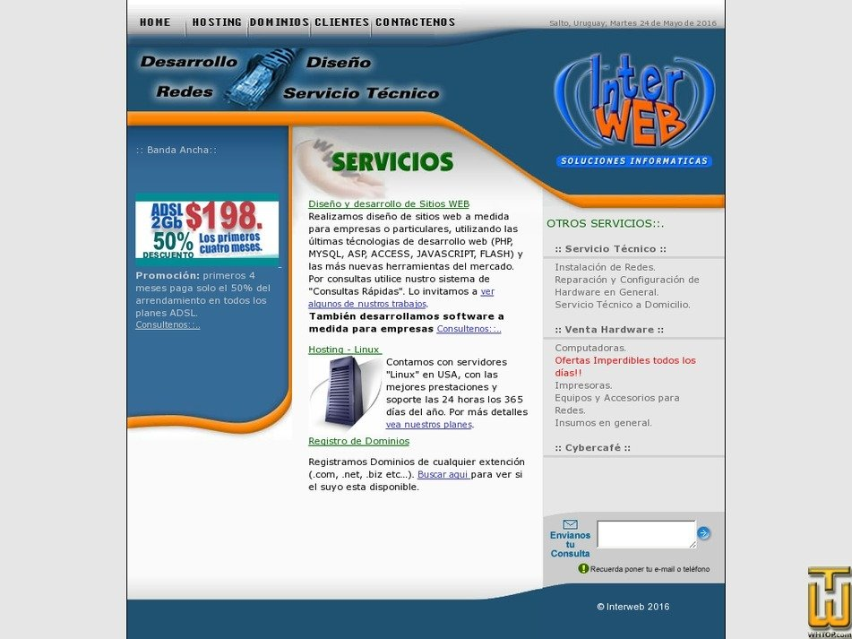 interweburuguay.com Screenshot