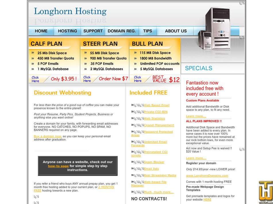 longhornhosting.com Screenshot