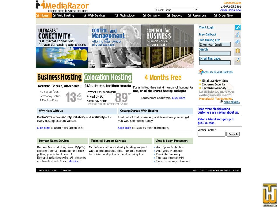 mediarazor.com Screenshot