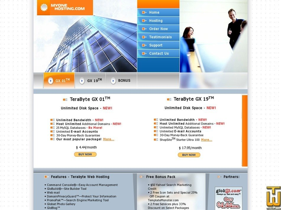 myonehosting.com Screenshot