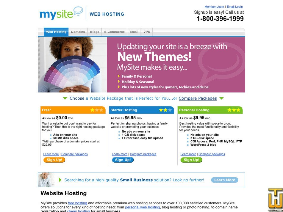 mysite.com Screenshot