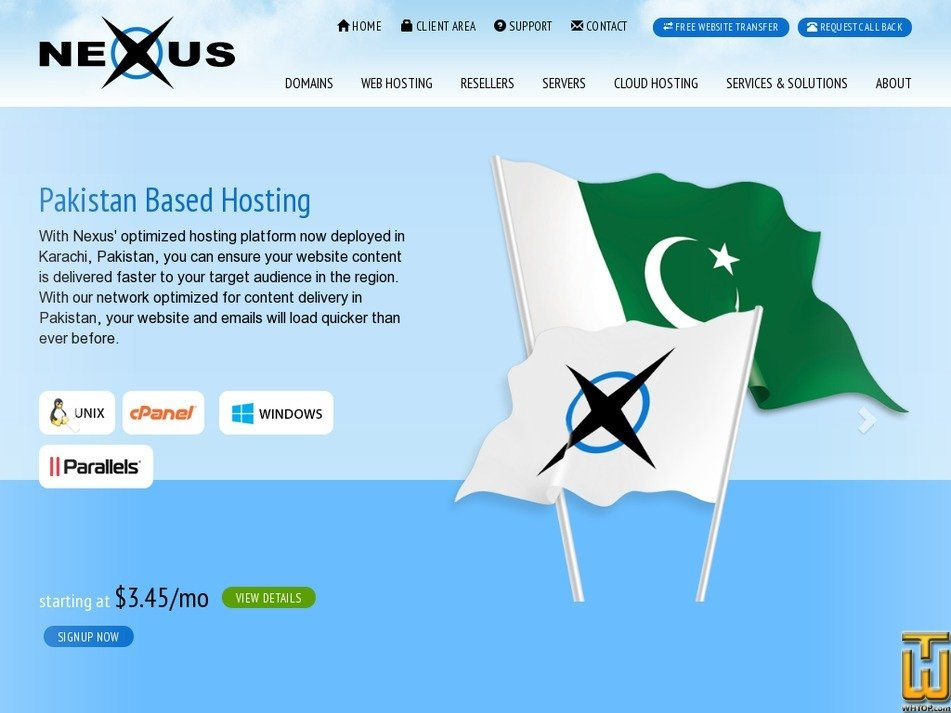 nexus.net.pk Screenshot