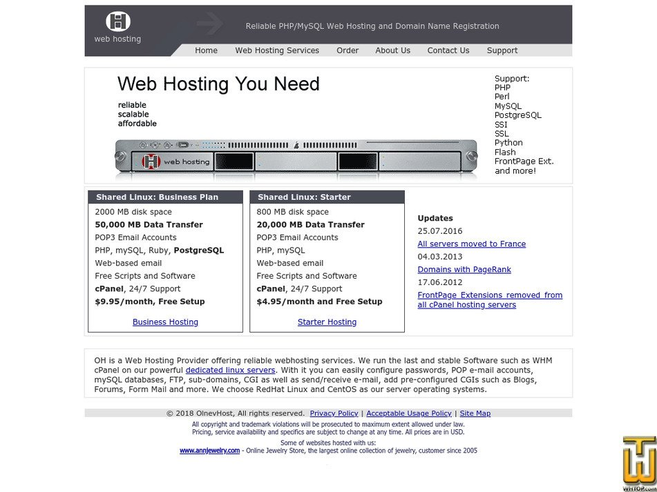 olnevhost.net Screenshot