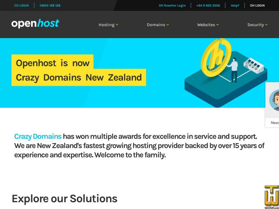 openhost.co.nz Screenshot
