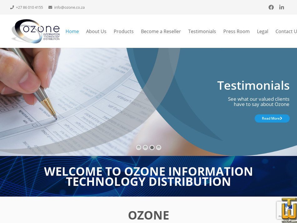 ozone.co.za Screenshot