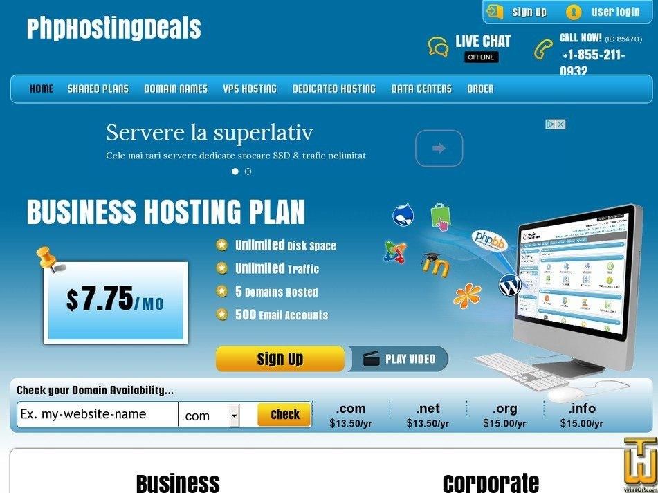 phphostingdeals.com Screenshot