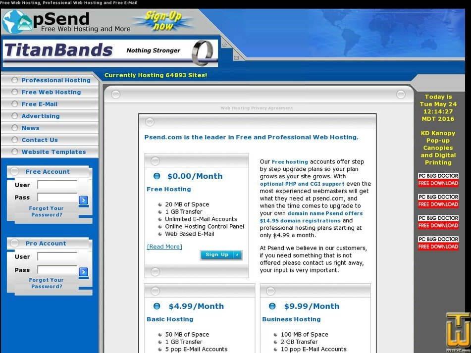 psend.com Screenshot