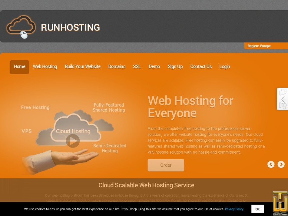 runhosting.com Screenshot