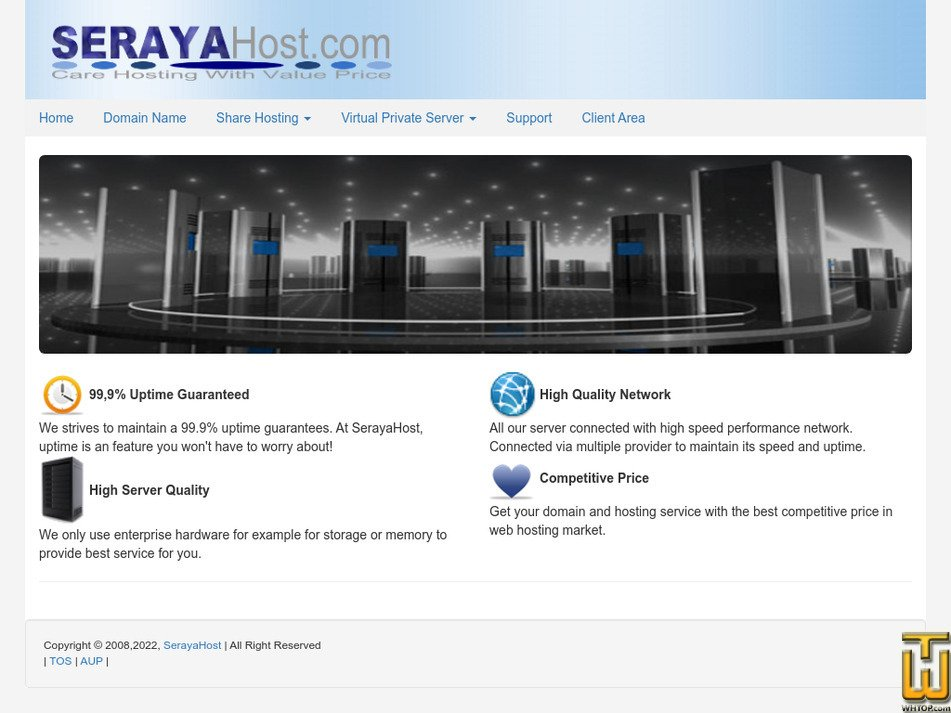 serayahost.com Screenshot
